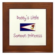 Daddy's little Samoan Princess Framed Tile