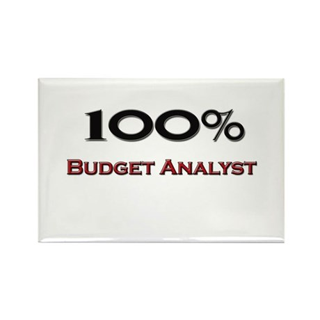 100 Percent Budget Analyst Rectangle Magnet (10 pa