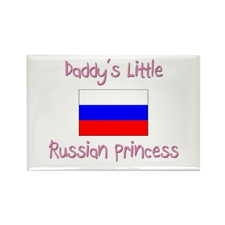 Daddy's little Russian Princess Rectangle Magnet