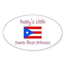 Daddy's little Puerto Rican Princess Stickers