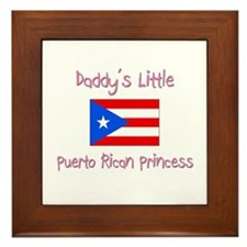 Daddy's little Puerto Rican Princess Framed Tile
