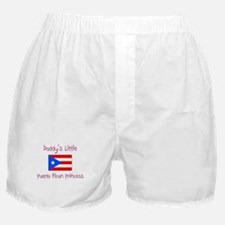 Daddy's little Puerto Rican Princess Boxer Shorts