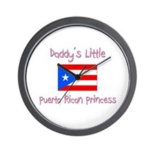 Daddy's little Puerto Rican Princess Wall Clock