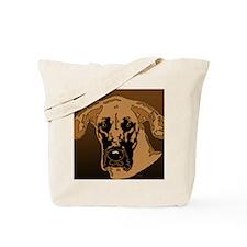 Great Dane Fawn w/Black Mask Tote Bag