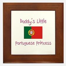 Daddy's little Portuguese Princess Framed Tile