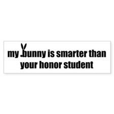 my bunny is smarter than your Bumper Bumper Sticker