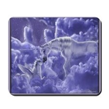 Unicorns in the Clouds Mousepad