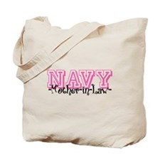 NAVY MotherNlaw- Jersey Style Tote Bag