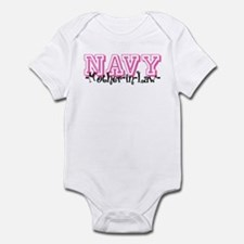 NAVY MotherNlaw- Jersey Style Infant Bodysuit