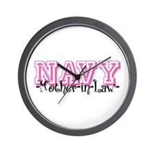 NAVY MotherNlaw- Jersey Style Wall Clock