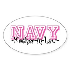 NAVY MotherNlaw- Jersey Style Oval Decal