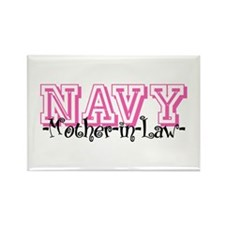 NAVY MotherNlaw- Jersey Style Rectangle Magnet