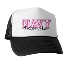 NAVY MotherNlaw- Jersey Style Trucker Hat