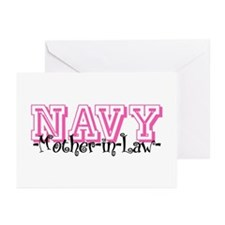 NAVY MotherNlaw- Jersey Style Greeting Cards (Pk o