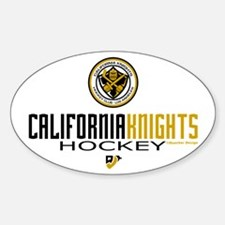 CalKnights Hky Stick Time Oval Decal