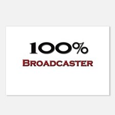 100 Percent Broadcaster Postcards (Package of 8)