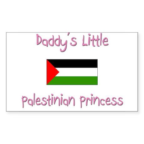 Daddy's little Palestinian Princess Sticker (Recta