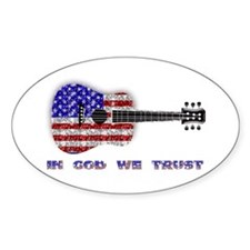 In God We Trust Oval Decal