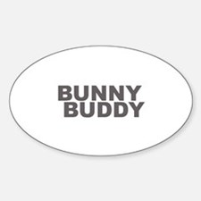 BUNNY BUDDY Oval Decal