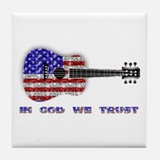 In God We Trust Tile Coaster