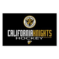 CalKnights Hky Stick Time Rectangle Decal