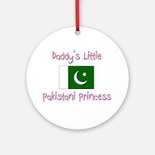 Daddy's little Pakistani Princess Ornament (Round)