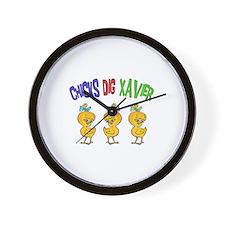 Chicks Dig Xavier Wall Clock