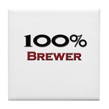 100 Percent Brewer Tile Coaster