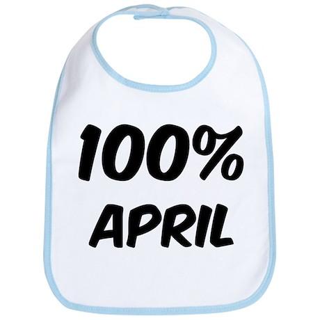 100 Percent April Bib
