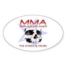 MMA Shirts and Gifts Oval Decal