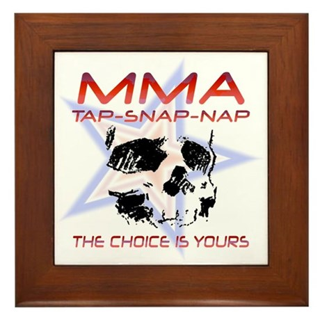 MMA Shirts and Gifts Framed Tile