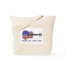 Born In The USA Guitar Tote Bag
