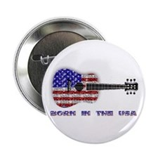 Born In The USA Guitar Button