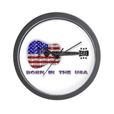 Born In The USA Guitar Wall Clock