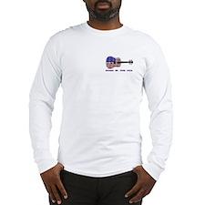 Born In The USA Guitar Long Sleeve T-Shirt