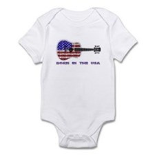 Born In The USA Guitar Infant Creeper