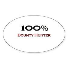 100 Percent Bounty Hunter Oval Decal