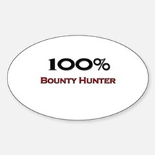 100 Percent Bounty Hunter Oval Decal