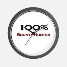 100 Percent Bounty Hunter Wall Clock