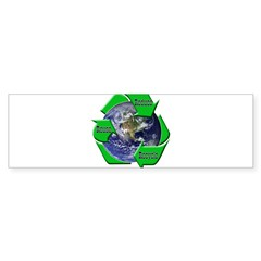 Reduce Reuse Recycle Earth Bumper Sticker (50 pk)