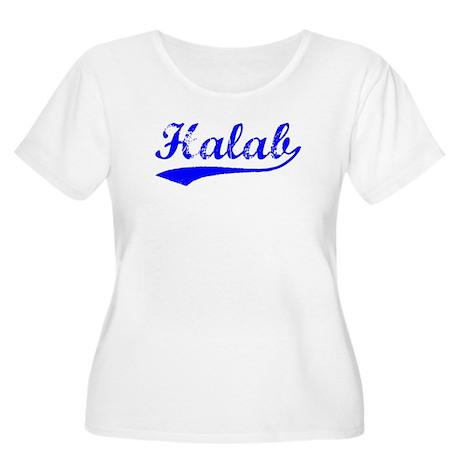 Vintage Halab (Blue) Women's Plus Size Scoop Neck