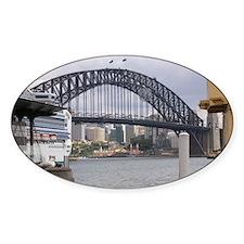 Sydney Harbor Bridge Photo Oval Decal