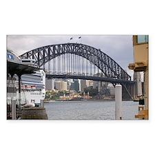 Sydney Harbor Bridge Photo Rectangle Decal