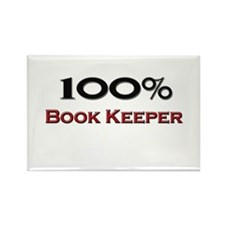100 Percent Book Keeper Rectangle Magnet