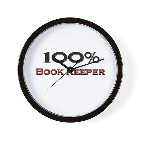 100 Percent Book Keeper Wall Clock