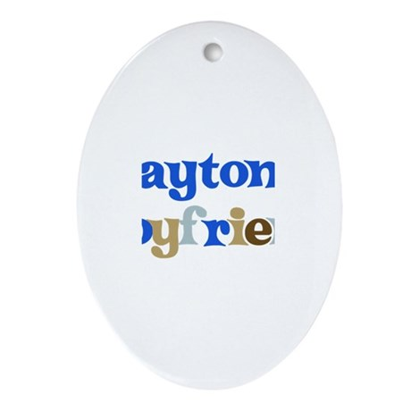Payton's Boyfriend Oval Ornament