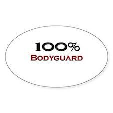 100 Percent Bodyguard Oval Decal