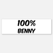 100 Percent Benny Bumper Bumper Bumper Sticker