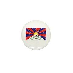 Tibetan Flag Mini Button (10 pack)