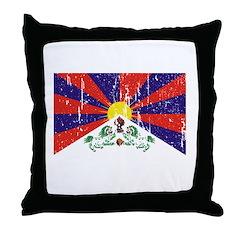 Tibetan Flag Throw Pillow